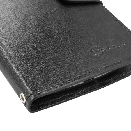 delivered encase leather style vodafone smart prime 6 wallet case black use