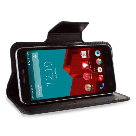 encase leather style vodafone smart prime 6 wallet case black are not licensed