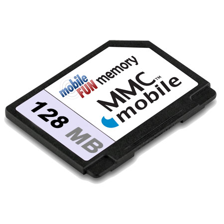 RSMMC Dual Voltage Reduced Size Multimedia Card - 128MB