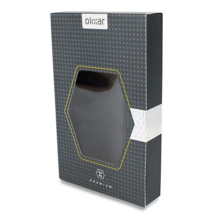 Olixar Premium Real Leather Samsung Galaxy A3 2015 Wallet Case - Black