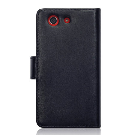 Olixar Premium Real Leather Sony Xperia Z3 Compact Wallet Case - Black