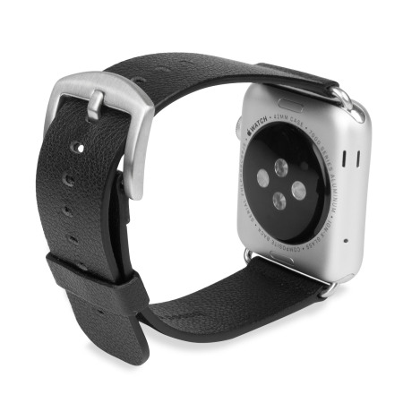 Baseus Apple Watch Premium Genuine Leather Strap - 42mm - Black