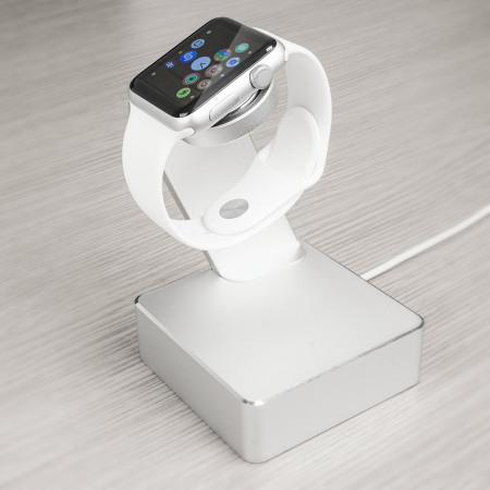 Support de recharge Apple Watch Olixar Aluminum - Argent