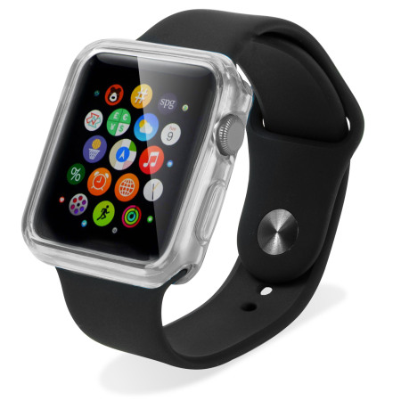 buy popular 03b4b a76ca Olixar Soft Protective Apple Watch Series 2 / 1 Case - 42mm - Clear