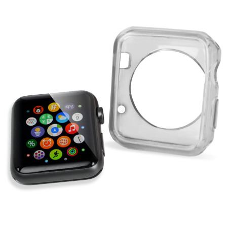 Olixar Soft Protective Apple Watch Series 2 / 1 Case - 42mm - Clear