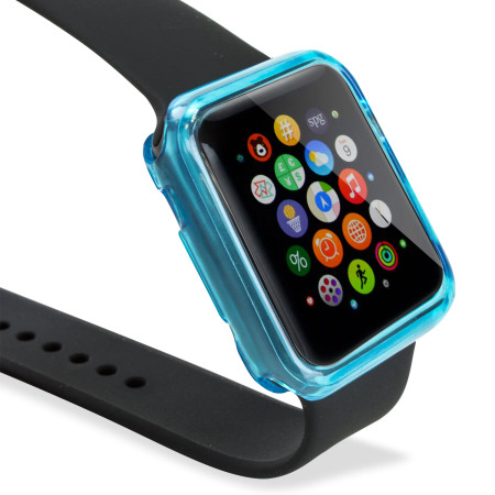 Olixar Soft Protective Apple Watch 3 / 2 / 1 Case - 38mm - Blue/Clear