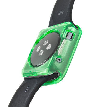 Olixar Soft Protective Apple Watch 3 / 2 / 1 Case - 38mm - Green/Clear