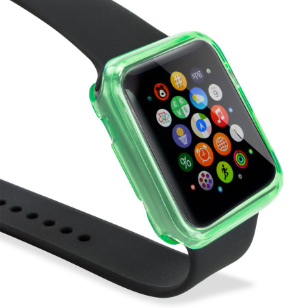 Olixar Soft Protective Apple Watch 3 / 2 / 1 Case - 42mm - Green/Clear