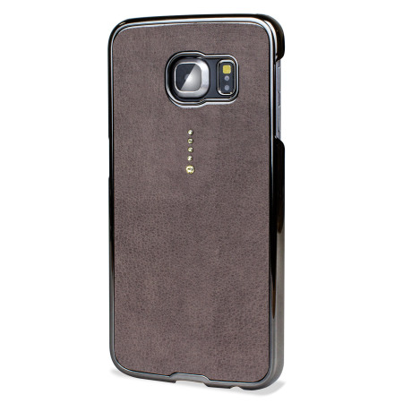 Samsung Galaxy S6 Edge Bling Case with Swarovski Elements - Grey