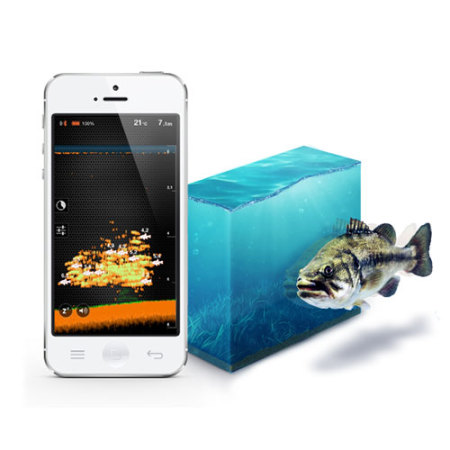 Deeper fishfinder bluetooth fish locator for smartphones for Phone fish finder