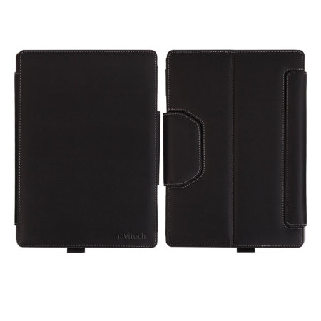 Leather-Style Microsoft Surface 3 Stand Case - Black