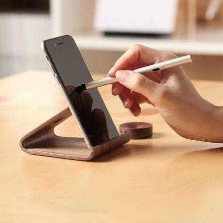 Support iphone and ipad en bois elago w2 - Support smartphone bureau ...