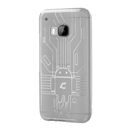 this cruzerlite bugdroid circuit htc one m8 case clear which