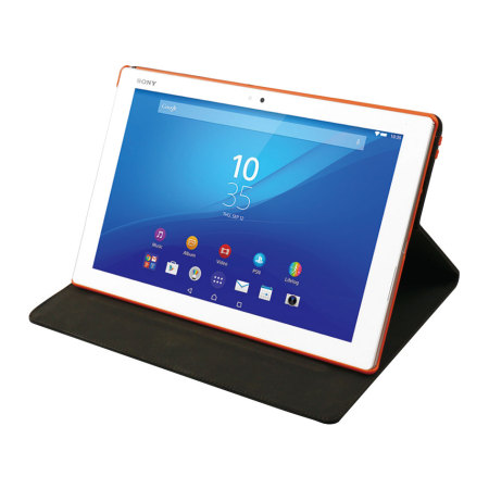 Roxfit Sony Xperia Z4 Tablet Book Case - Black/Orange