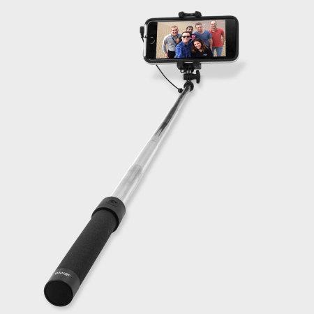 perche selfie de poche olixar avec miroir noire. Black Bedroom Furniture Sets. Home Design Ideas
