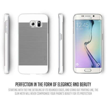 Obliq Slim Meta Samsung Galaxy S6 Edge Skal - Satinsilver