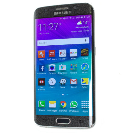 olixar samsung galaxy s6 edge curved glass screen protector frosted mismo