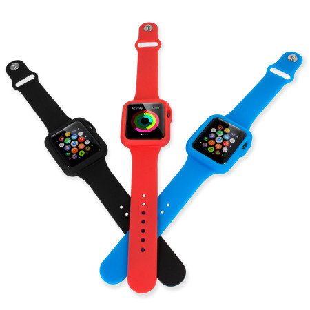 Olixar Silicone Apple Watch 3 / 2 / 1 Sport Strap with Case - 38mm - R