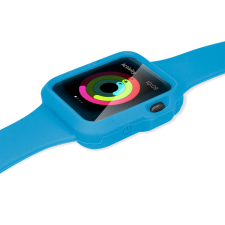 Olixar Silicone Apple Watch 3 / 2 / 1 Sport Strap & Case - 38mm - Blue