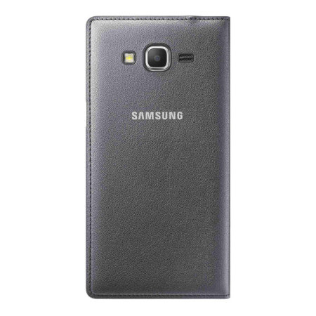 Official Samsung Galaxy Grand Prime Flip Wallet Cover - Charcoal Grey