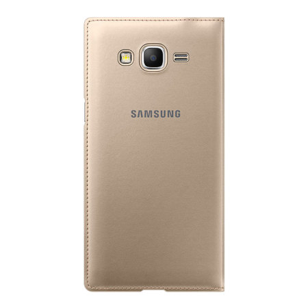 lowest price d0c7a b1b10 Official Samsung Galaxy Grand Prime Flip Wallet Cover - Gold