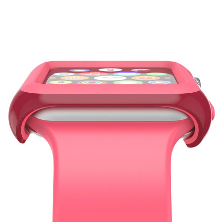 buy popular a14a0 48633 Speck CandyShell Fit Apple Watch Case (42mm) - Red / Pink
