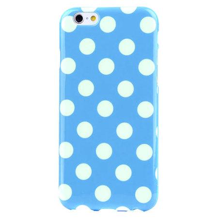 Polka Dot FlexiShield iPhone 6S Plus / 6 Plus Gel Case - Blue