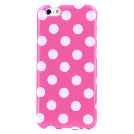 Polka Dot FlexiShield iPhone 6S / 6 Gel Case - Pink