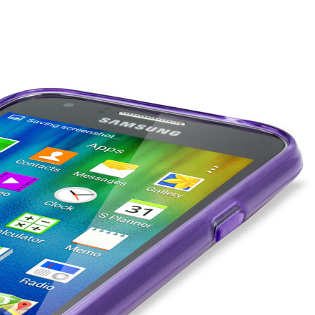 FlexiShield Samsung Galaxy J1 2015 Gel Case - Purple