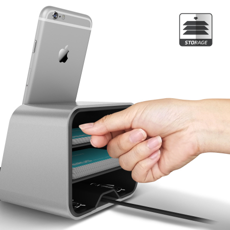 verus i depot universal smartphone tablet charging stand silver