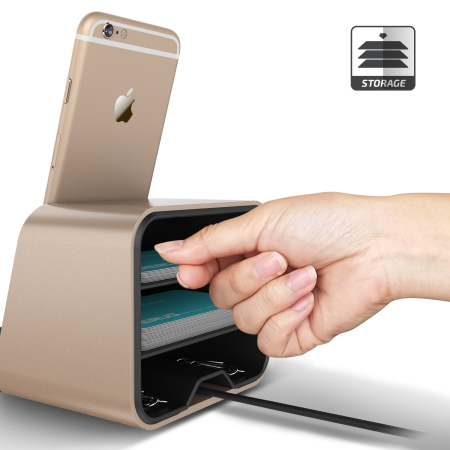 Verus i-Depot Universal Smartphone & Tablet Charging Stand - Gold