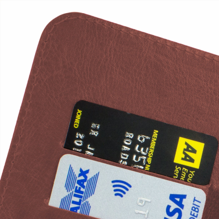 Encase Rotating Leather-Style EE Harrier Wallet Case - Brown
