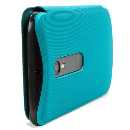 san francisco 5d64f 6e7c2 Official Motorola Moto G 3rd Gen Flip Shell Cover - Turquoise