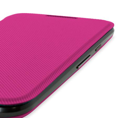 size 40 93ee3 fd661 Official Motorola Moto G 3rd Gen Flip Shell Cover - Raspberry