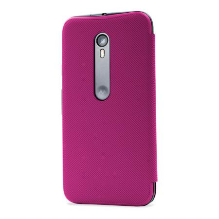motorola flip phones pink. official motorola moto g 3rd gen flip shell cover - raspberry phones pink