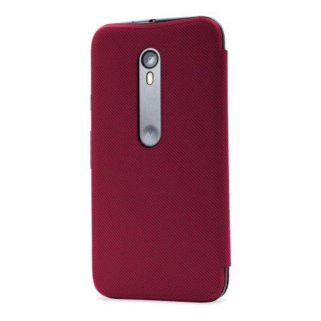 Official Motorola Moto G 3rd Gen Flip Shell Cover - Crimson