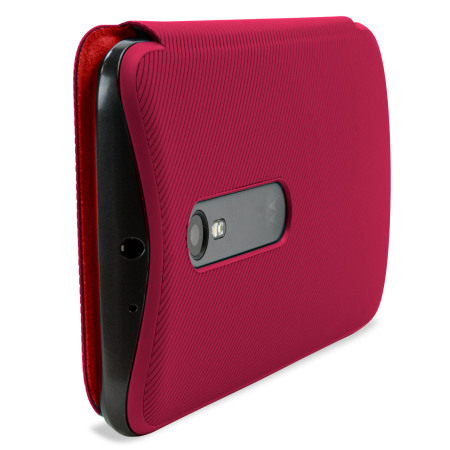 free shipping 2f8f0 bb284 Official Motorola Moto G 3rd Gen Flip Shell Cover - Crimson