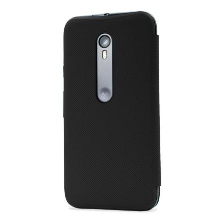 the latest b8579 207ac Official Motorola Moto G 3rd Gen Flip Shell Cover - Black