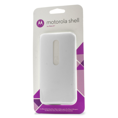 Official Motorola Moto G 3rd Gen Shell Replacement Back Cover - White