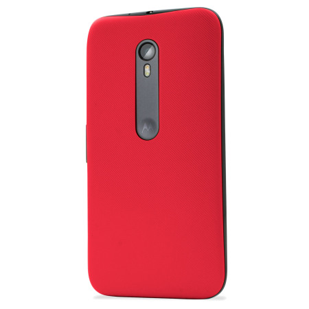 Official Motorola Moto G 3rd Gen Shell Replacement Back Cover - Cherry
