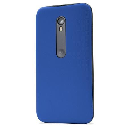new arrival 59d0d 55c60 Official Motorola Moto G 3rd Gen Shell Replacement Back Cover - Blue