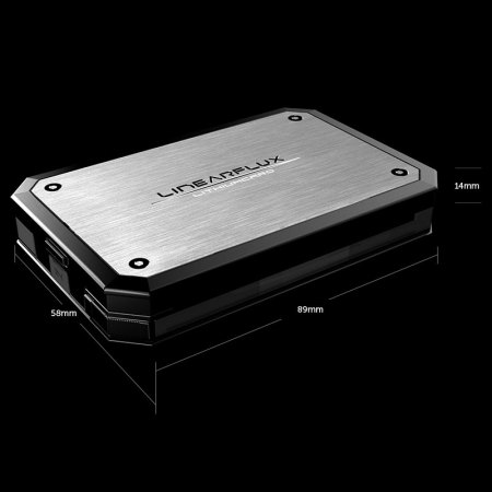 Linearflux LithiumCard Pro Portable Micro USB Power Bank - Silver