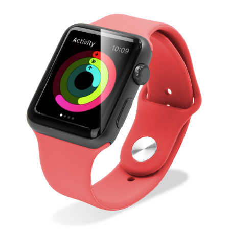 Olixar 3-in-1 Silicone Sports Apple Watch 2 / 1 Strap 38mm - Light Red