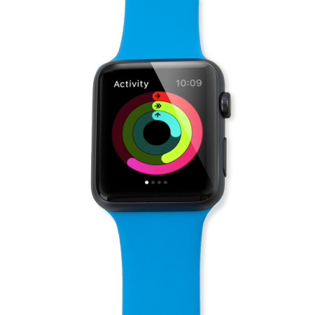 Bracelet Apple Watch 2 / 1 Olixar Sport Silicone 3-en-1 - 38mm - Bleu