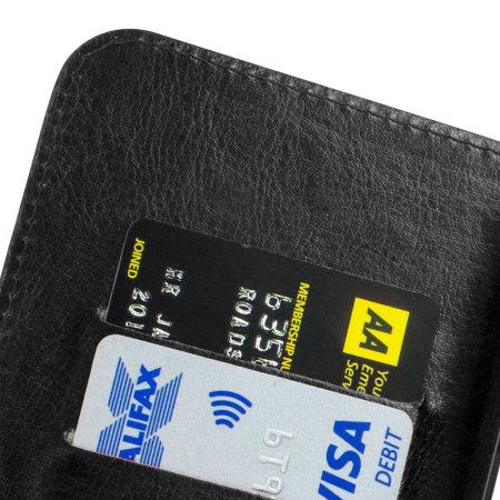 Encase Rotating Leather-Style ZTE Blade D6 Wallet Case - Black
