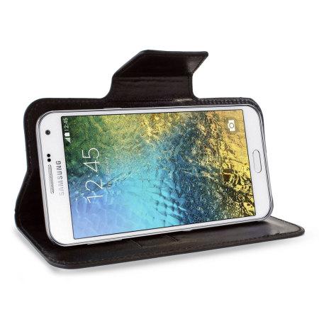 Funda universal Encase Rotating para Samsung Galaxy E7 - Negra