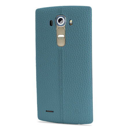 LG G4 Blue Leather Replacement Back Cover