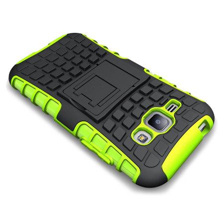 ArmourDillo Samsung Galaxy J1 2015 Protective Case in Grüm