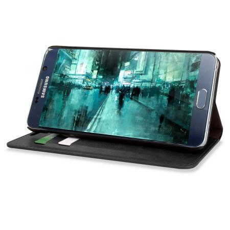 Olixar Leather-Style Samsung Galaxy Note 5 Wallet Case - Black