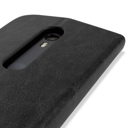 Olixar Leather-Style Motorola Moto G 3rd Gen Wallet Case - Black